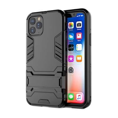 PKG Apple iPhone11 (6.1吋)保護殼(隱藏支架)2合1防護殼套-黑
