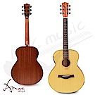 Amari 36吋 可插電附調音器 雲杉木面板旅行吉他(mini-EQ)原木色 加贈超值五