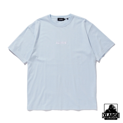 XLARGE S/S TEE EMBROIDERY STANDARD LOGO 刺繡LOGO短T-藍