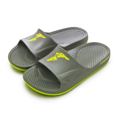 GOODYEAR 防水輕量彈力休閒運動拖鞋 灰綠 93778