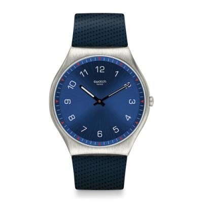 Swatch 超薄金屬系列 SKINNAVY 超薄金屬-海軍藍-42mm