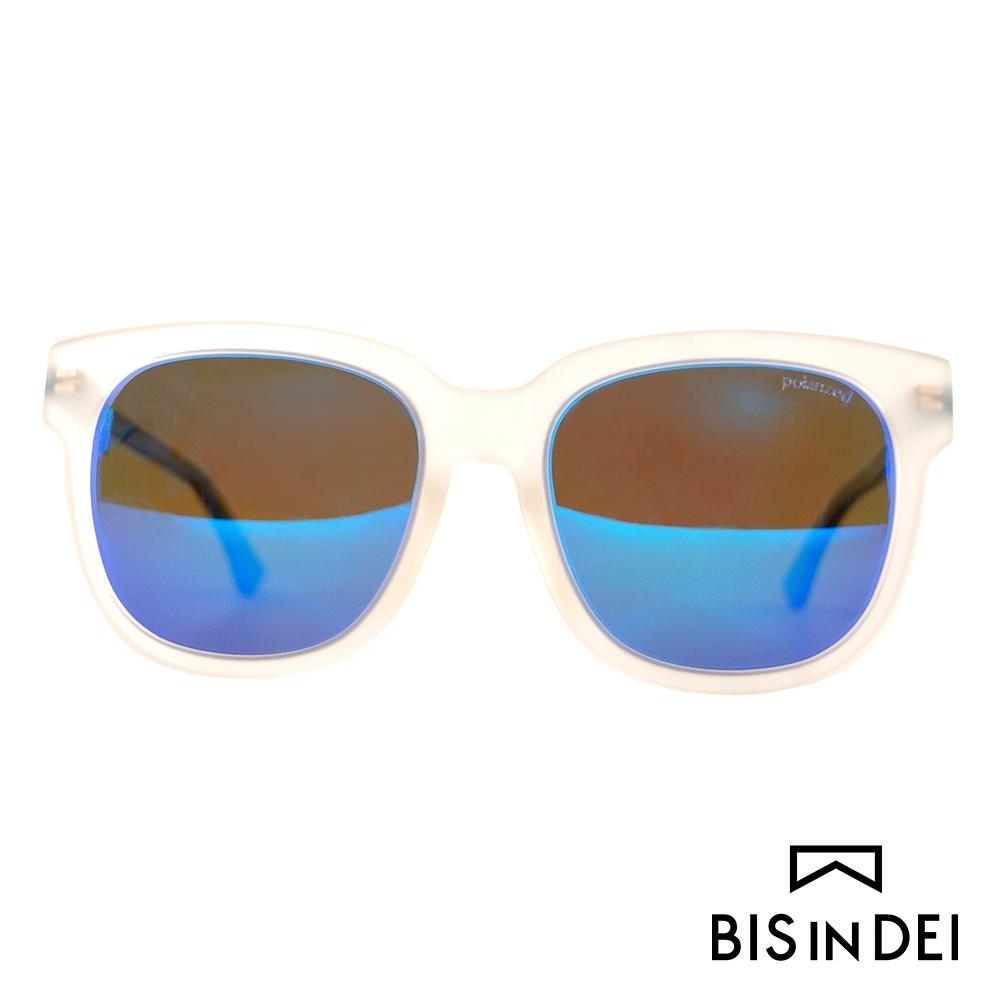 BIS IN DEI 微高調復古方框太陽眼鏡-霧透明