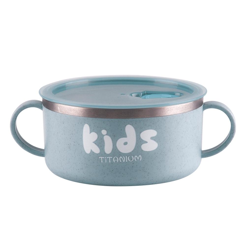 【Ti-living 】 純鈦兒童-密封雙手柄碗 300ml 附吸盤(共2色可選)