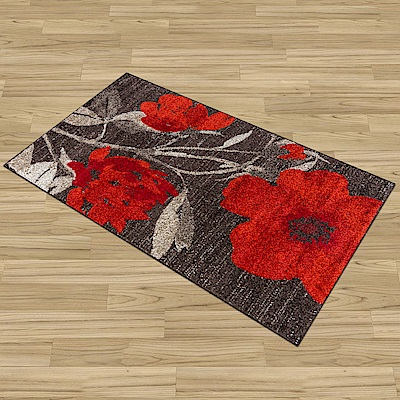 Ambience-比利時Blossom床邊/走道地毯 -嫣紅 (67x130cm)