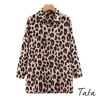 寬鬆豹紋襯衫 TATA