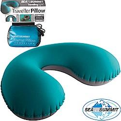 Sea to Summit 充氣頸枕_藍綠 甜甜圈枕/旅行護頸枕/飛機枕/午睡枕