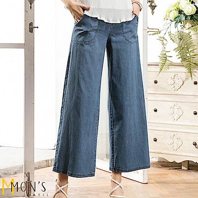 MONS  彈性寬版單寧牛仔褲