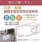 創意達人銀離子透氣可調式罩中罩口罩墊片(100入)