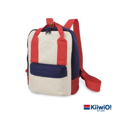 Kiiwi O! 輕便隨行系列帆布後背包 SALLY 紅x藍