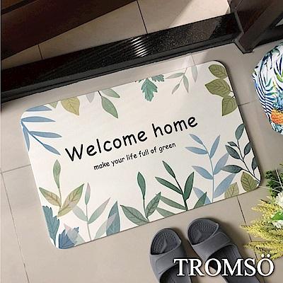 TROMSO珪藻土厚實吸水地墊-綠葉家園