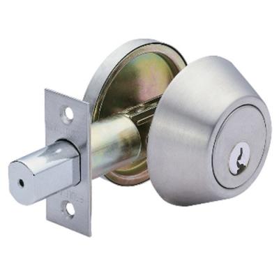 加安 D261 輔助鎖 60mm 扁平鑰匙 不鏽鋼磨紗銀 防盜鎖