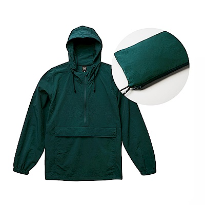 United Athle機能口袋風衣 收納小包oversize衝鋒衣