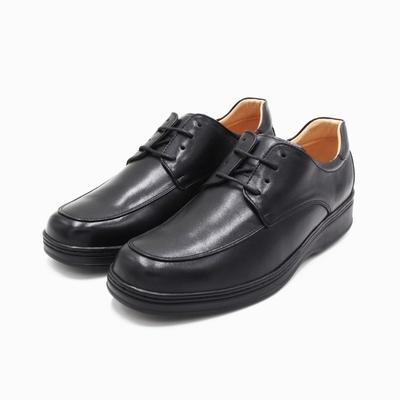 W&M(男)氣墊感厚底增高綁帶皮鞋 男鞋-黑