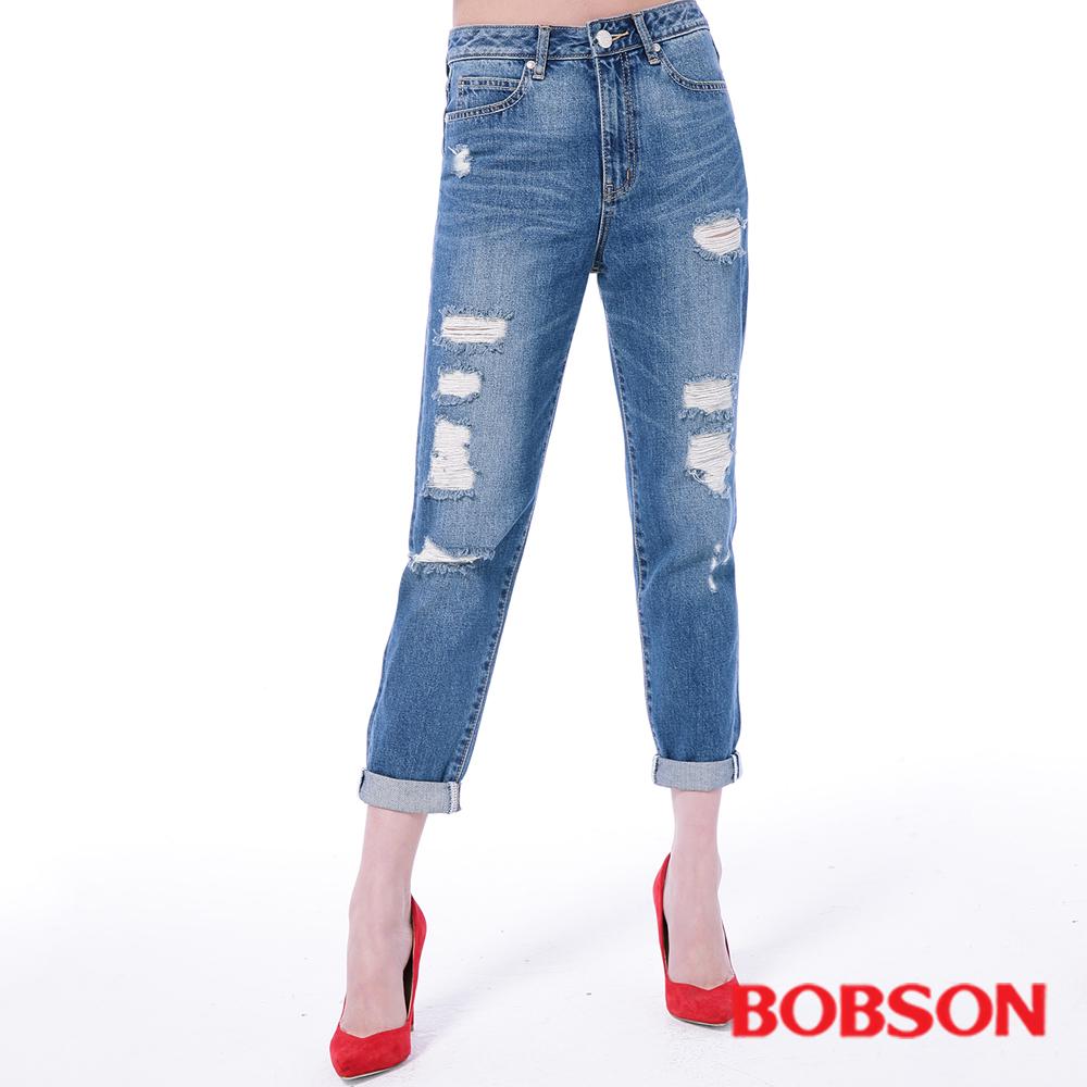 BOBSON 女款男朋友破褲
