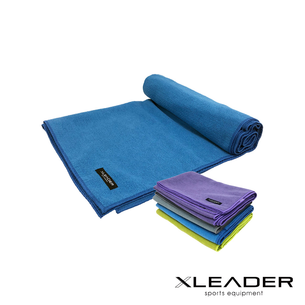 Leader X 超細纖維吸汗止滑瑜珈鋪巾  2入組 - 急