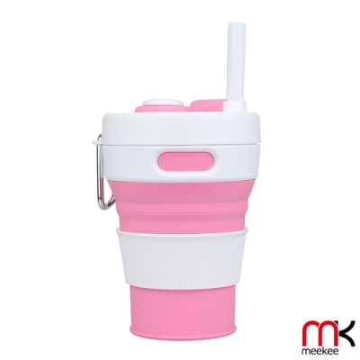 meekee 樂攜杯-伸縮摺疊吸管咖啡杯/飲料杯 (450ml)