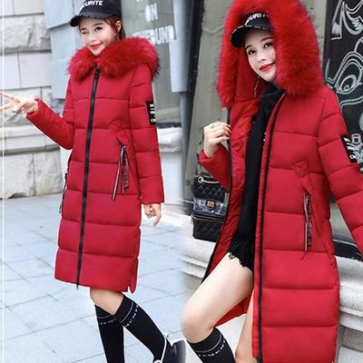 【韓國K.W.】 KMM2094-6 時尚修身毛領造型防風羽絨外套-紅
