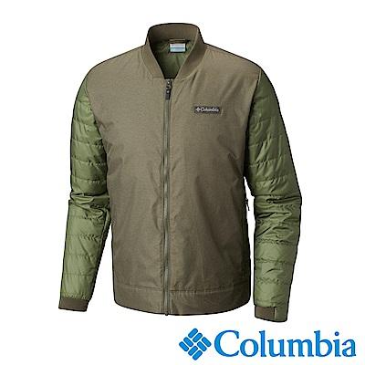Columbia哥倫比亞 男款-防潑水撞色休閒外套-軍綠