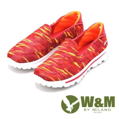 W&M MODARE系列 迷彩直套式休閒鞋 女鞋-橘(另有紫、藍)