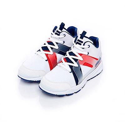 FILA KIDS 大童MD韓系復古鞋-白藍紅 3-J811S-123