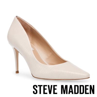STEVE MADDEN-LOREAN 性感曲線尖頭細高跟鞋-米色