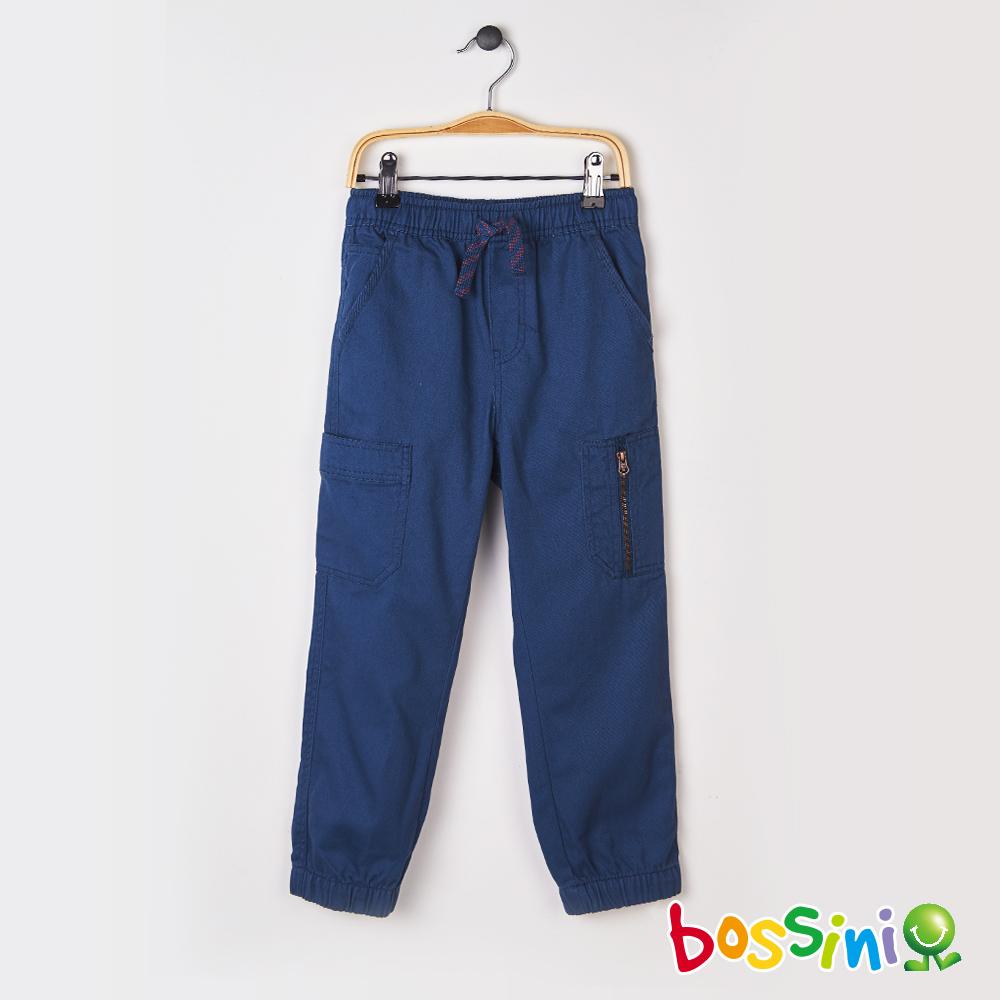 bossini男童-輕鬆束口長褲01綠松色