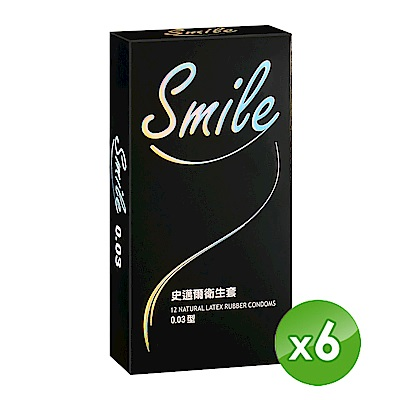 SMILE史邁爾 衛生套保險套-003(12入/盒 *6,共72入)
