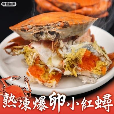 【海陸管家】保證有卵熟凍母紅蟳4隻(每隻約100g)