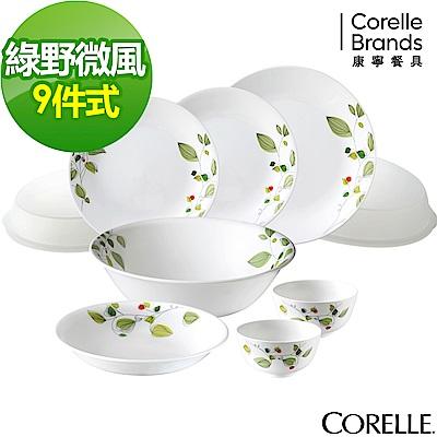 CORELLE康寧 綠野微風9件式餐盤組(901)