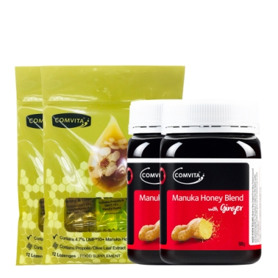 折價券後1650(買一送一)康維他生薑麥蘆卡蜂蜜+綜合潤喉糖組 市價3520