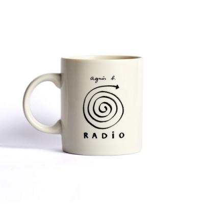 agnes b. radio音樂陶瓷馬克杯 12 oz (白)