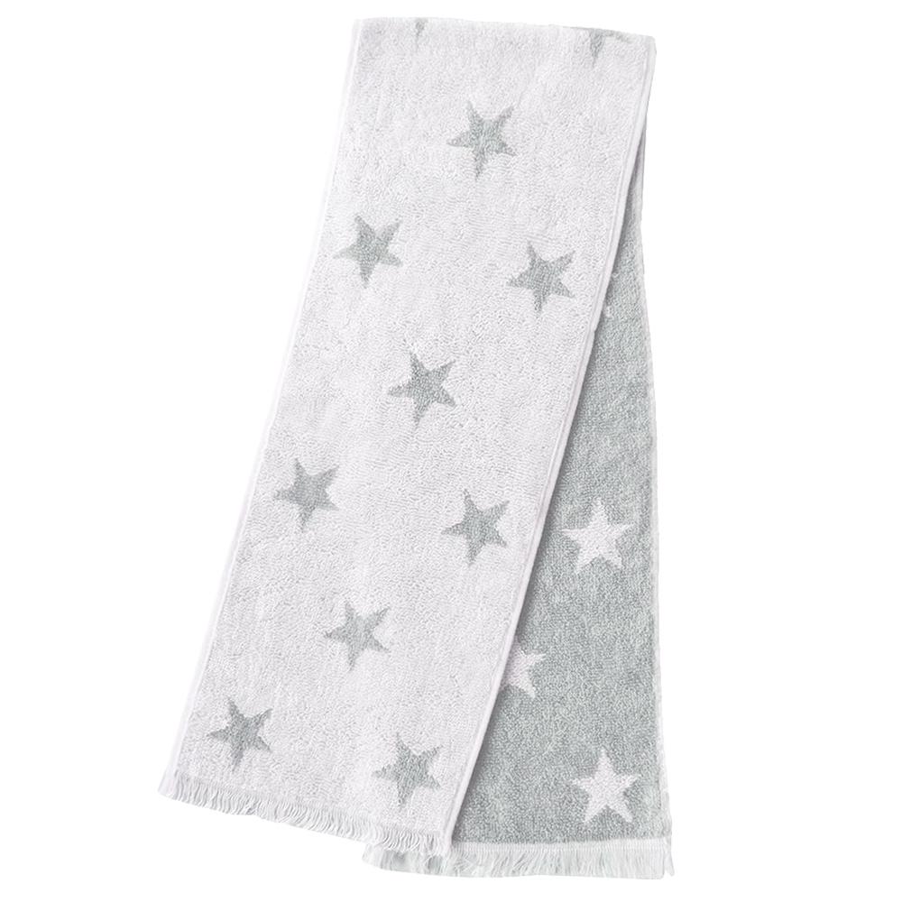 日本丸真 Eco de COOL 涼感運動毛巾 星星灰