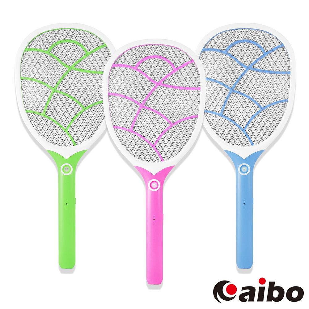 aibo 直插充電式LED照明 三層網面防觸電蚊拍(UR-19A2)