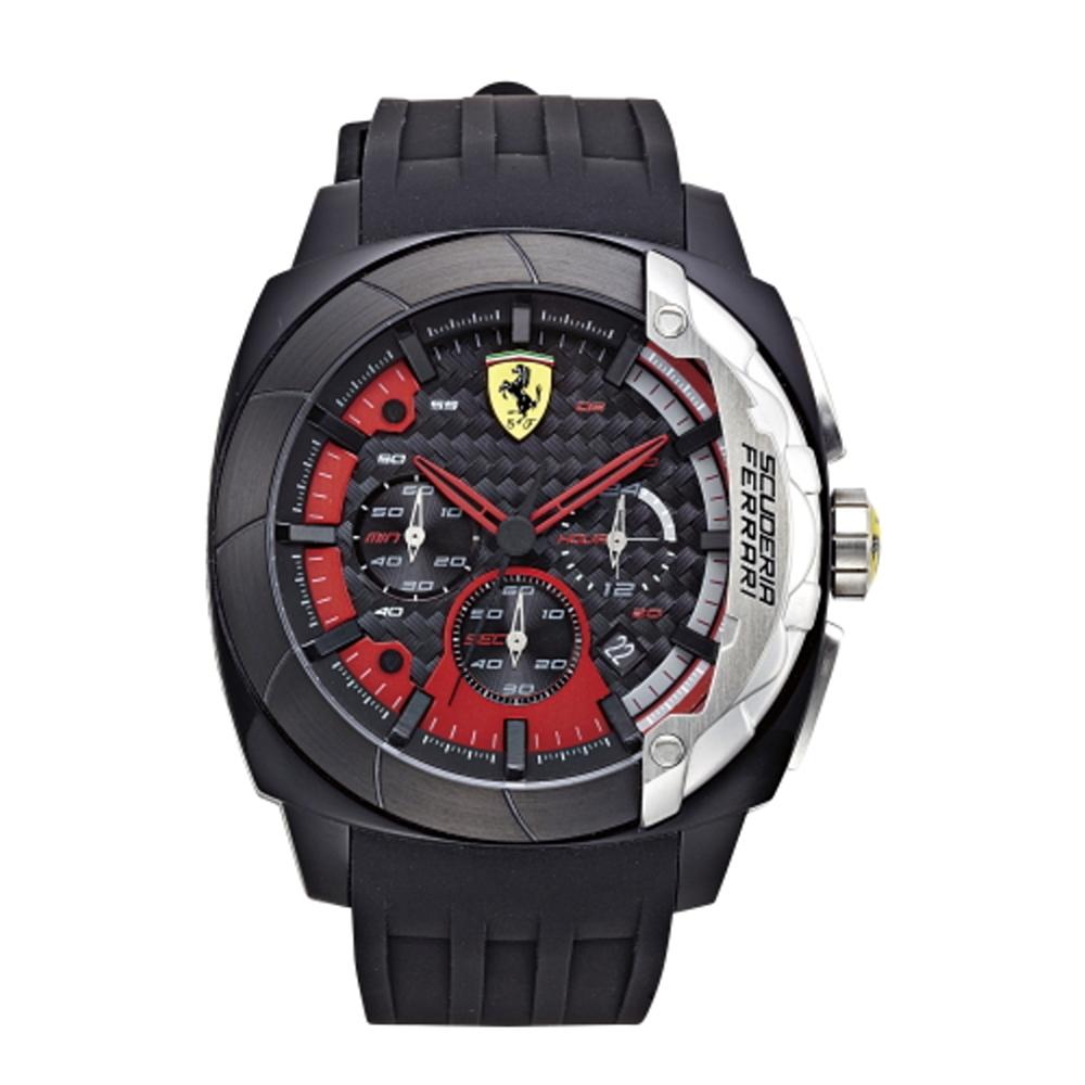 FERRARI Aerodinamico 競速賽車大鏡面時尚腕錶/46mm/紅/FA083