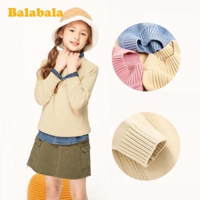 清秀女孩淨色針織毛衣-女(3色)