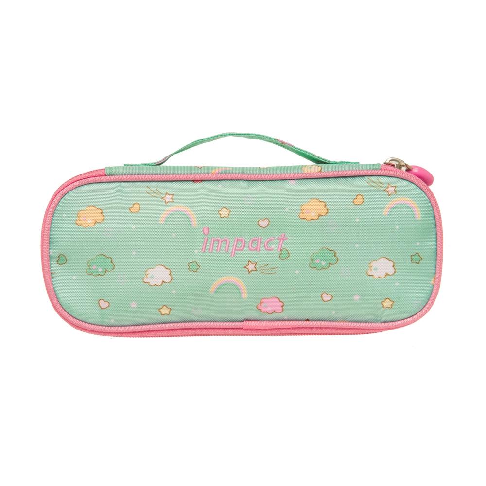 【IMPACT】怡寶筆袋-彩虹-粉綠 IM00L07TG