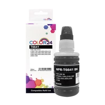 Color24 for Epson T664100/100ml 黑色相容連供墨水