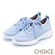 CHOiCE 輕量針織布面綁帶休閒鞋 淺藍 product thumbnail 1