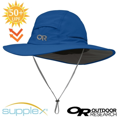 Outdoor Research Sombriolet Sun Hat 超輕多孔式防曬抗UV透氣大盤帽子(UPF 50+).圓盤帽_分級藍
