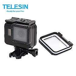 TELESIN GoPro HERO 7 6 5 專用 免拆鏡頭 黑色 60米防水殼