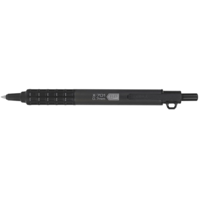 ZEBRA 耐候加壓不鏽鋼原子筆X-701 (0.7mm替芯和吊環)#29811