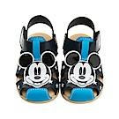 迪士尼童鞋 米奇 星星手工涼鞋-藍