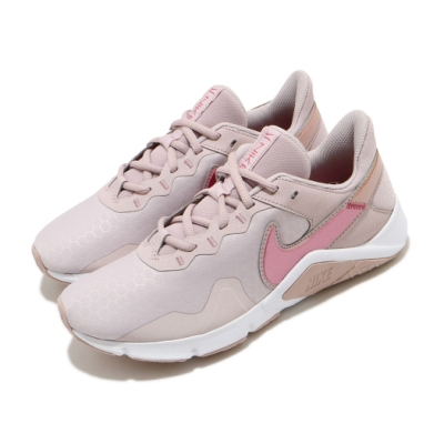 Nike 訓練鞋 Legend Essential 2 女鞋 多功能 健身房 支撐 穩定 運動 球鞋 粉 白 CQ9545003