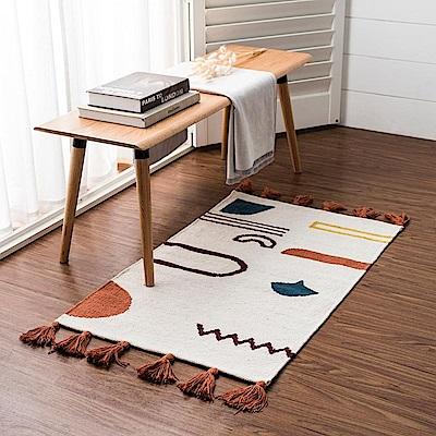 hoi! 帕特爾印度手工編織地毯-幾何色塊-80x150cm (H014279099)