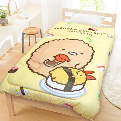 享夢城堡 超柔暖暖毯被150x195cm-角落小夥伴 壽司炸豬排-鵝黃