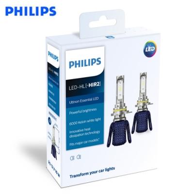 PHILIPS光劍LED頭燈Essential Ultinon HIR2頭燈兩入裝-公司貨