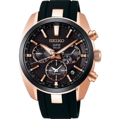 SEIKO精工ASTRON 5X53雙時區太陽能手錶(SSH024J1)