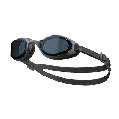 NIKE SWIM 成人訓練型泳鏡-蛙鏡 游泳 戲水 海邊 沙灘 NESSA182-014 灰黑
