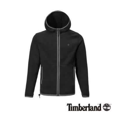 Timberland 男款黑色抓絨連帽外套|A1ZFZ