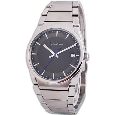 Calvin Klein ck Step 極簡紳士典藏時尚品味不鏽鋼腕錶(黑色38mm)